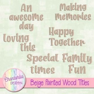 free beige painted wood titles