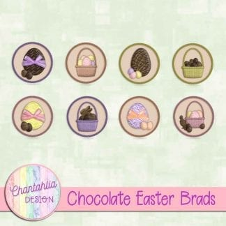 Free brads in a Chocolate Easter theme.