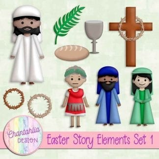 Free design elements in an Easter Story theme