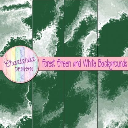 Free forest green and white digital paper backgrounds