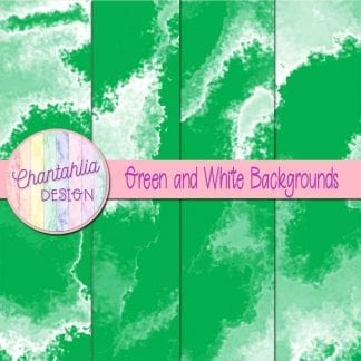 Free green and white digital paper backgrounds
