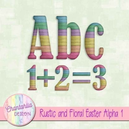 free rustic and floral easter alpha 1