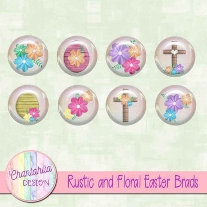 free rustic and floral easter brads
