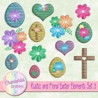 rustic and floral easter design elements