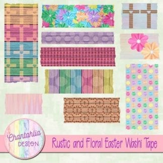 Free washi tape in a Rustic and Floral Easter theme