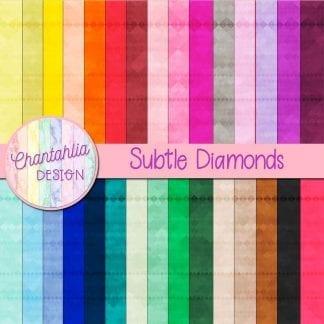 Free digital papers featuring a subtle diamonds design