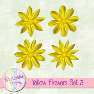 Free yellow flowers design elements with instant download