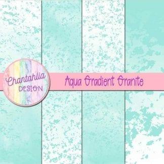 Free aqua gradient granite digital papers