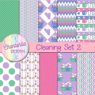 Free digital papers in a Cleaning theme