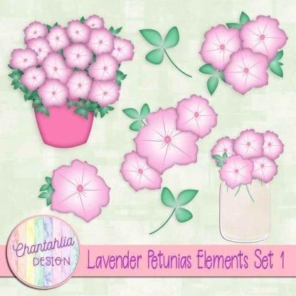 free lavender petunias design elements