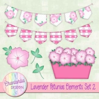 Free lavender petunias design elements