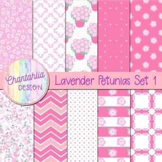 Free lavender petunias digital papers