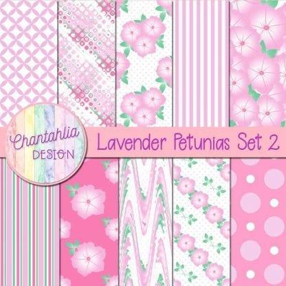 Free lavender petunias digital papers