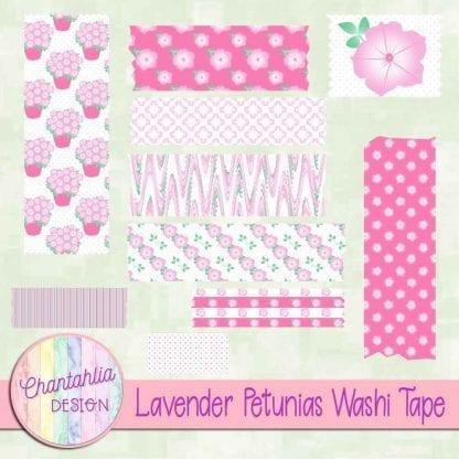 Free lavender petunias washi tape