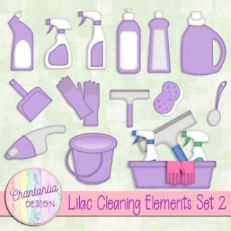 Free lilac design elements in a Cleaning theme