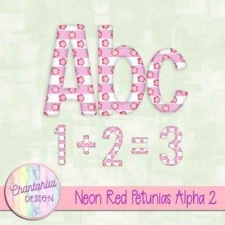 Free neon red petunias alpha