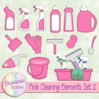 Free pink design elements in a Cleaning theme