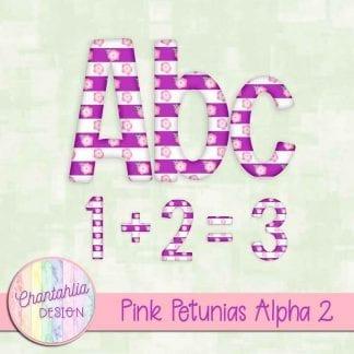 Free pink petunias alpha