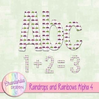 Free alpha in a Raindrops and Rainbows theme.