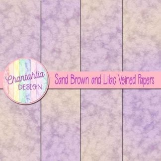 free sand brown and lilac veined papers