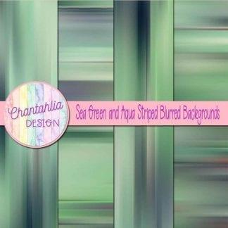 free sea green and aqua striped blurred backgrounds