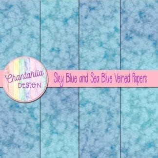 free sky blue and sea blue veined papers
