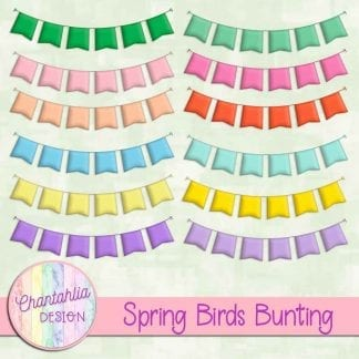free spring birds bunting