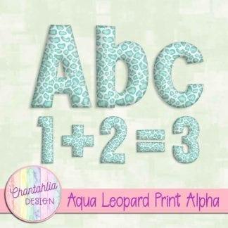 Free aqua leopard print alpha