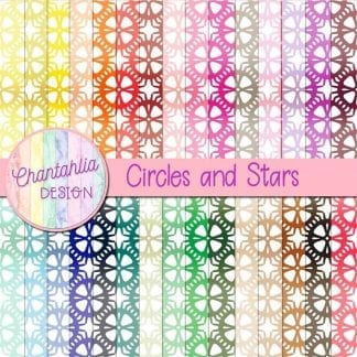 free circles and stars digital papers