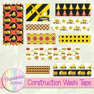 free construction washi tape