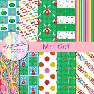 Free digital papers in a Mini Golf theme.