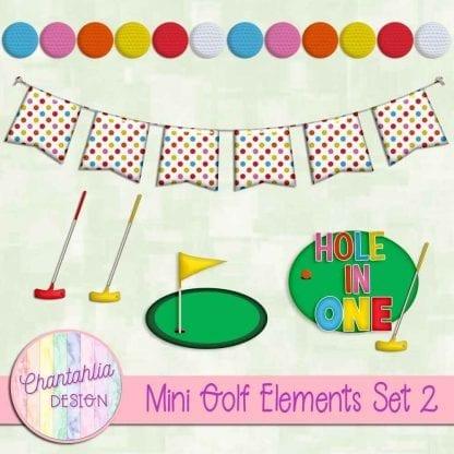 Free design elements in a Mini Golf theme