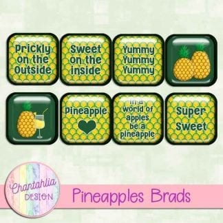 Free brads in a Pineapples theme