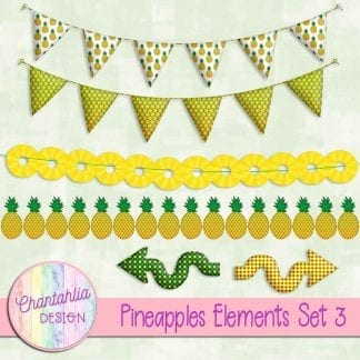 Free design elements in a Pineapples theme.