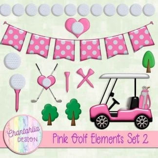 Free design elements in a Pink Golf theme