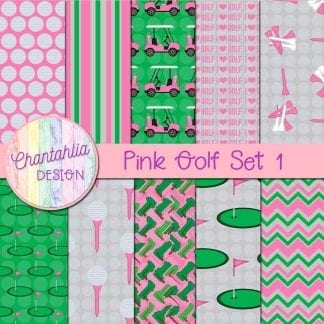 Free digital papers in a Pink Golf theme