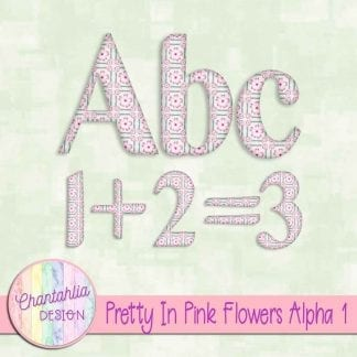 Free alpha in a Pretty in Pink Flowers theme
