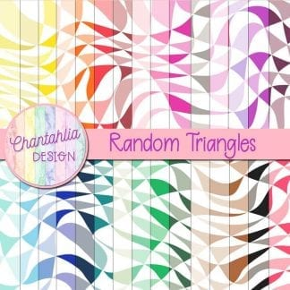 Free digital papers featuring a random triangles design