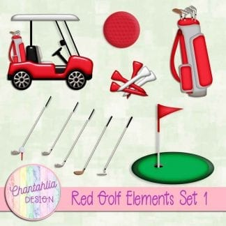 Free design elements in a Red Golf theme