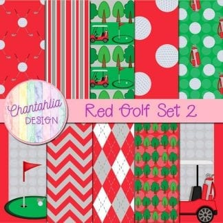 Free digital papers in a Red Golf theme.