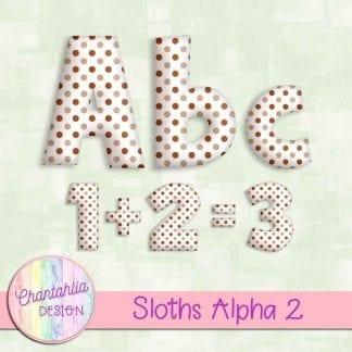 polka dot alpha to match sloths theme