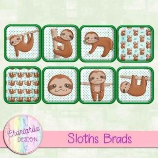 Free brads in a Sloths theme