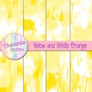Free yellow and white grunge digital papers