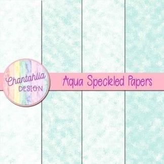 free aqua speckled digital papers