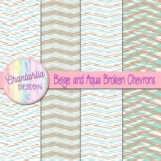 Free beige and aqua broken chevrons digital papers