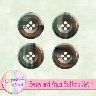 Free beige and aqua buttons