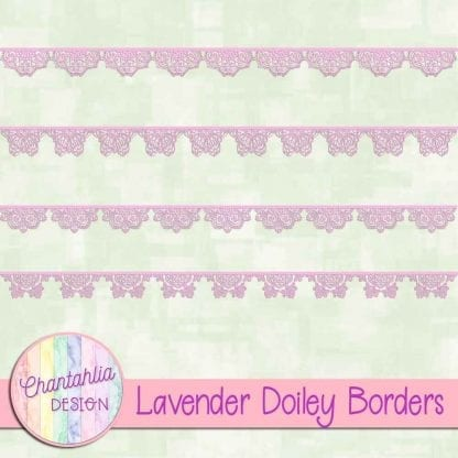 free lavender doiley borders