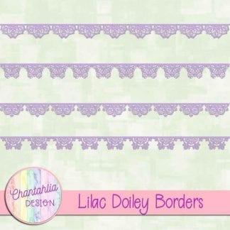 free lilac doiley borders
