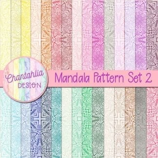 Free digital papers featuring a mandala pattern design.