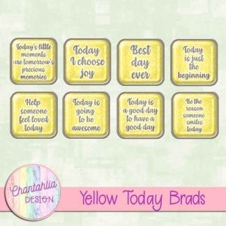 Free yellow brads in a motivational today theme.